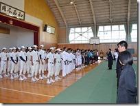 県大会壮行会-整列2