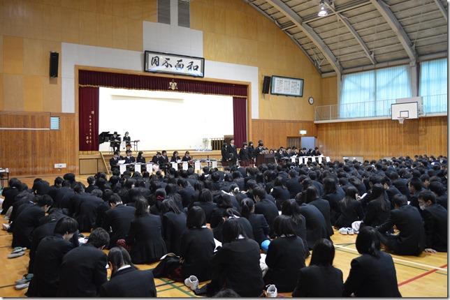 生徒総会が開かれ、今年度の総括が行われました。
