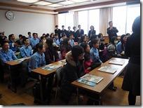 台湾-明道高級中学の皆さんが来校し、生徒と実習で交流しました。