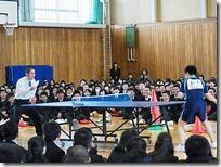 卓球部-先生と対戦