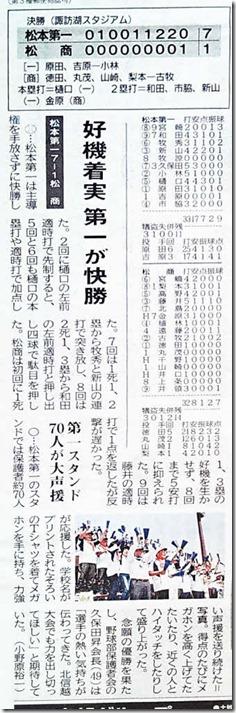 春の北信越野球県大会優勝5月20日付市民タイムス