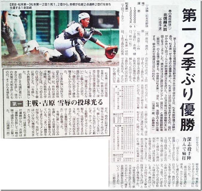 5月9日付市民タイムス決勝勝利