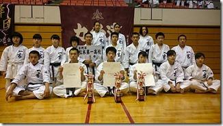 北信越総体 空手道競技 3種目で準優勝