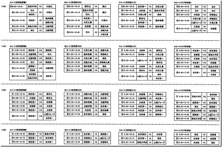 「第6回松本ファーストフェスティバル」が開催されます。(バスケットボール)