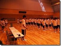 バレーボールクラスマッチが行われています