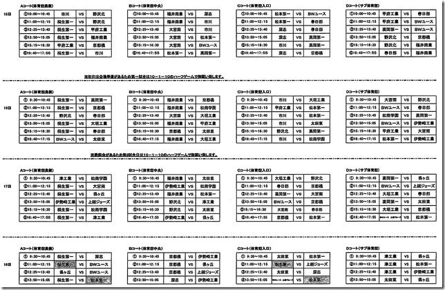 組み合わせ表2016