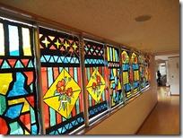 廊下装飾-ステンドグラス