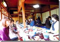 ときわ荘での昼食
