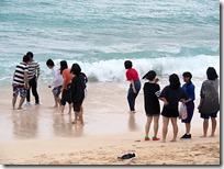 波と鬼ごっこ