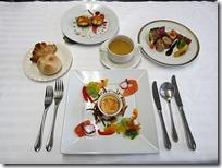 5組のコース料理