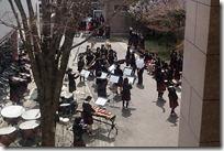 今年も吹奏楽部による昼コン(お昼のコンサート)が行われています。