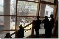 校舎内の階段から