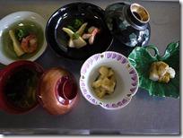 3年和食(筍のすり流し、筍の焚き合わせ、筍の木の芽和え)