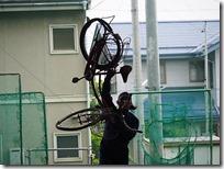 めちゃめちゃになった自転車