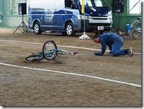 ヘッドフォンをつけて運転の自転車事故