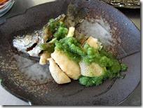 3年和食A虹鱒の唐揚げ緑酢がけ