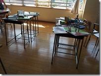生徒会展示-エントランス飾りつけ模型