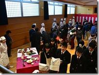 食物科3年5組 卒業作品展の様子