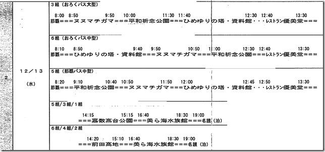 沖縄研修旅行2日目