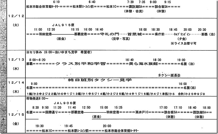 12月の沖縄研修旅行