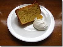 基礎1年オレンジシフォンケーキ