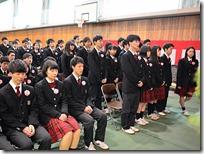 1組起立代表は宮澤亜美さん