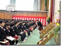 在校生送辞代表は新生徒会副会長小松乃絵瑠さん