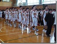 選手退場男子バスケットボール部
