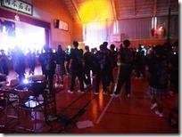 軽音楽部2年生バンドの演奏で一高体操