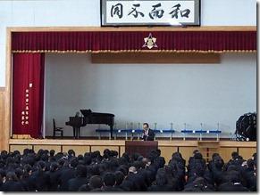11月1日は外語学園の創立記念日です。全校集会が行われました。
