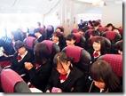 沖縄へ飛行機の中
