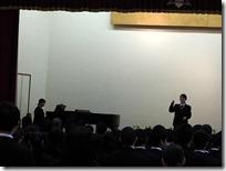 終業式校歌斉唱
