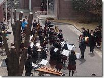 4月の風物詩 吹奏楽部の昼コンが行われました。