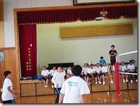クラスマッチの様子(バレーボール大会)