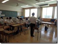 7月30日(火)3学年対象の進路学習「模擬面接」講座が開催されました。