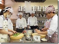 調理実習の講座中華