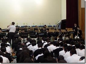 吹奏楽部の壮行演奏会が行われました。