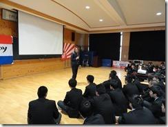 元サッカー日本代表 北澤豪さん 本校で講演会と実技指導