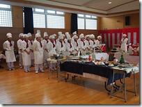 食物科卒業記念作品展の様子と料理 3年5組